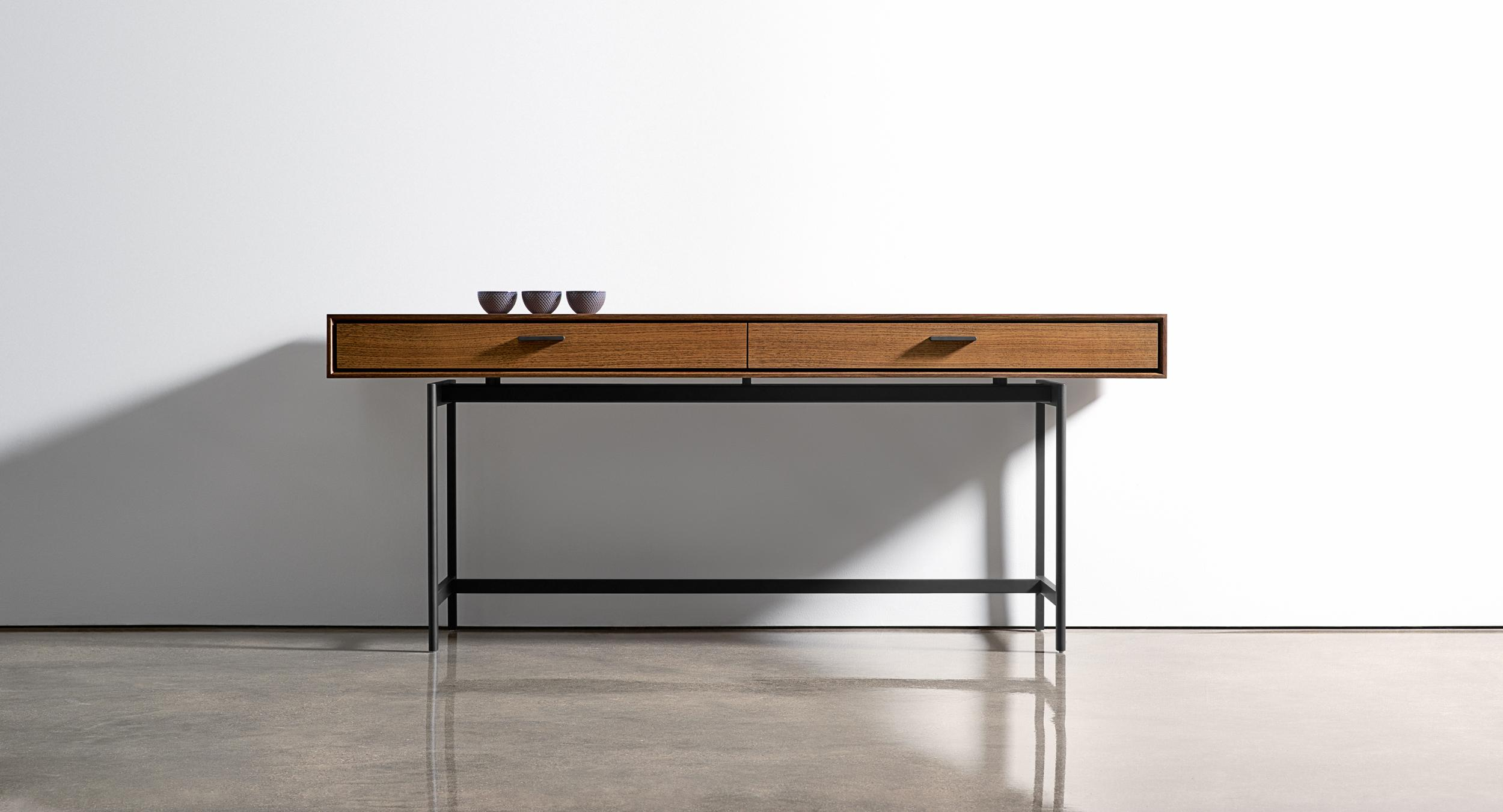 Beautiful sideboard storage is available in multiple modular heights, widths, and depths.