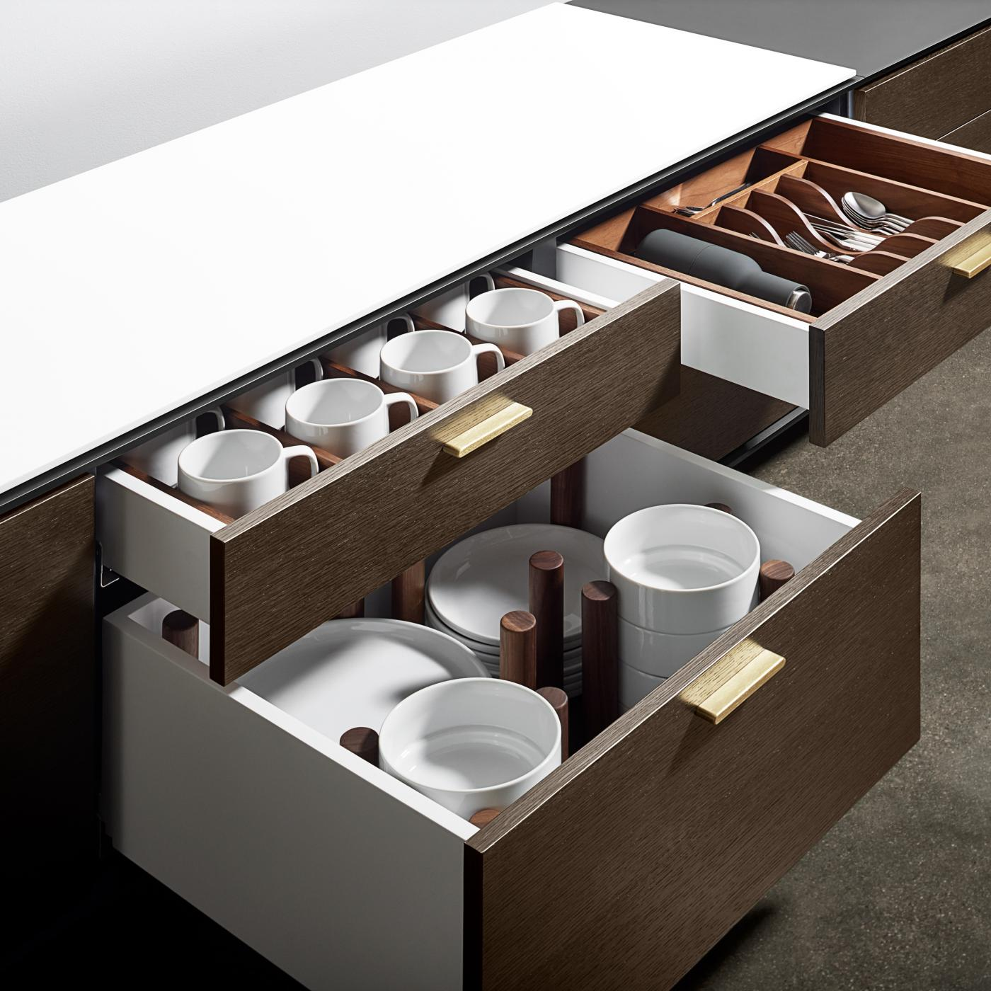 Halo's sideboards are the new standard in conference room storage and service.