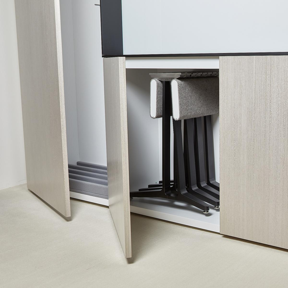 SkillSet table and storage can be customized to perfectly meets the needs of your space.