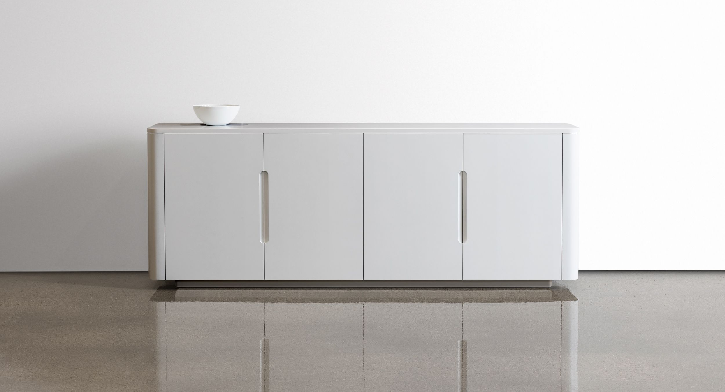 CREW credenzas feature clean, graceful lines with beautiful, integral finger pulls.