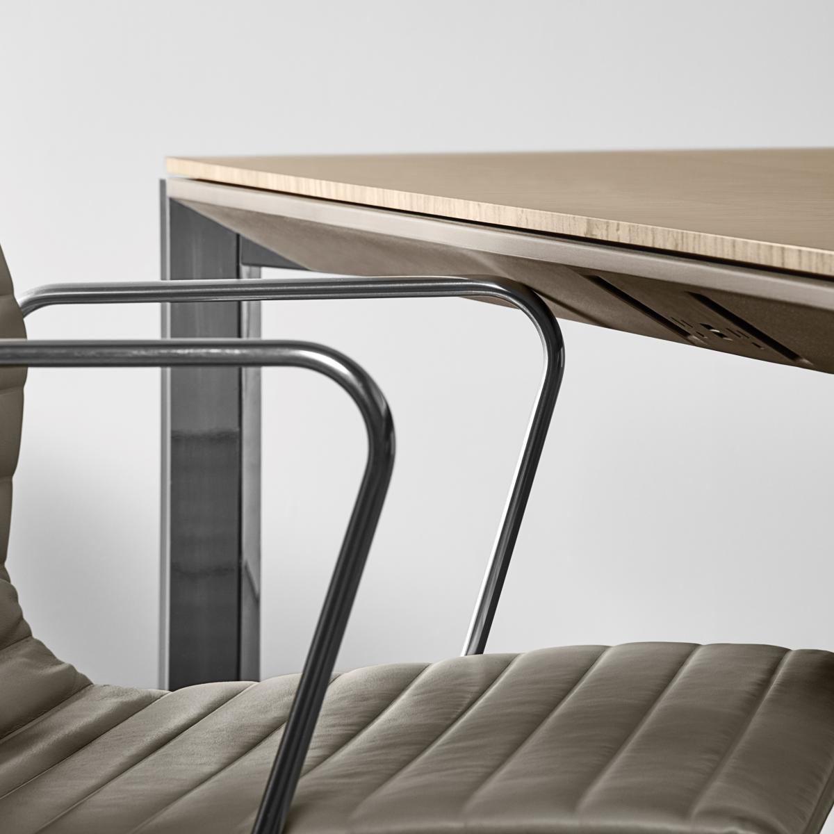 Halo's revolutionary soft edge protects both table and chair from damage.