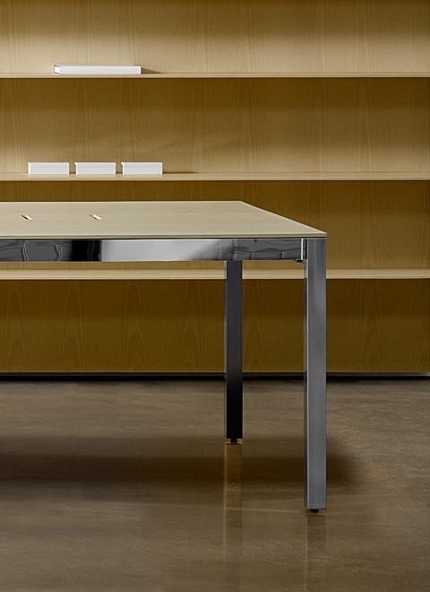The Lex collection of conference tables, storage, and shelving work harmoniously together to truly unify your space.