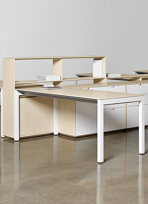 LEX's light scale and refined profiles provide sophistication to open and collaborative space.
