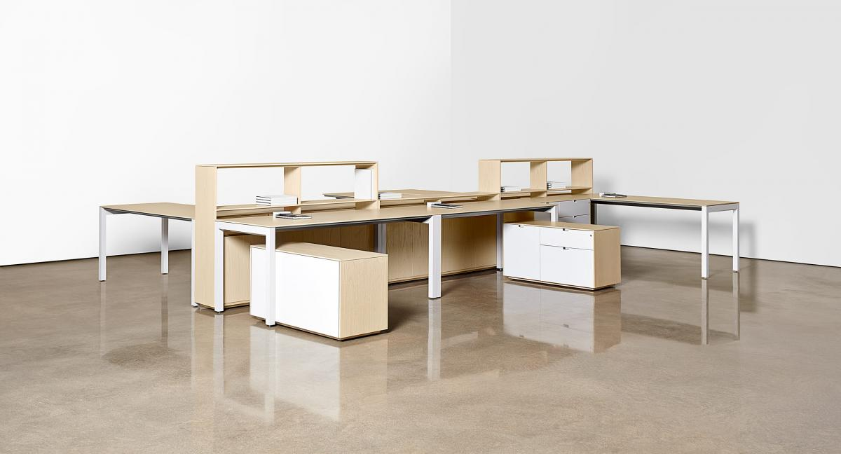 LEX offers freestanding desks, mobile peds, and storage to meet the needs of an ever-changing work environment.