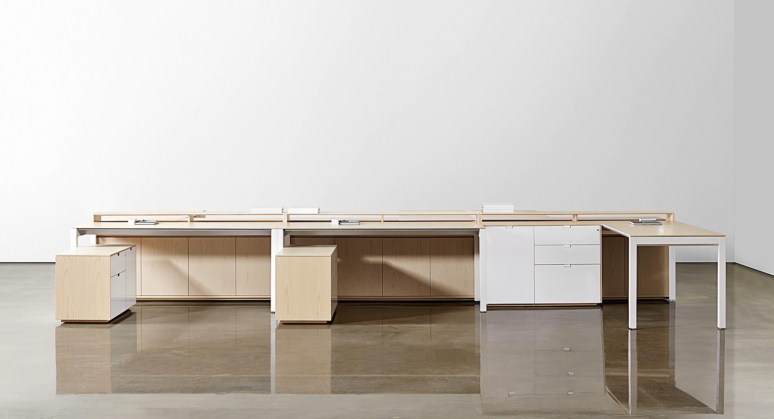 Configure and reconfigure freestanding desking and storage to meet ever-changing office needs.