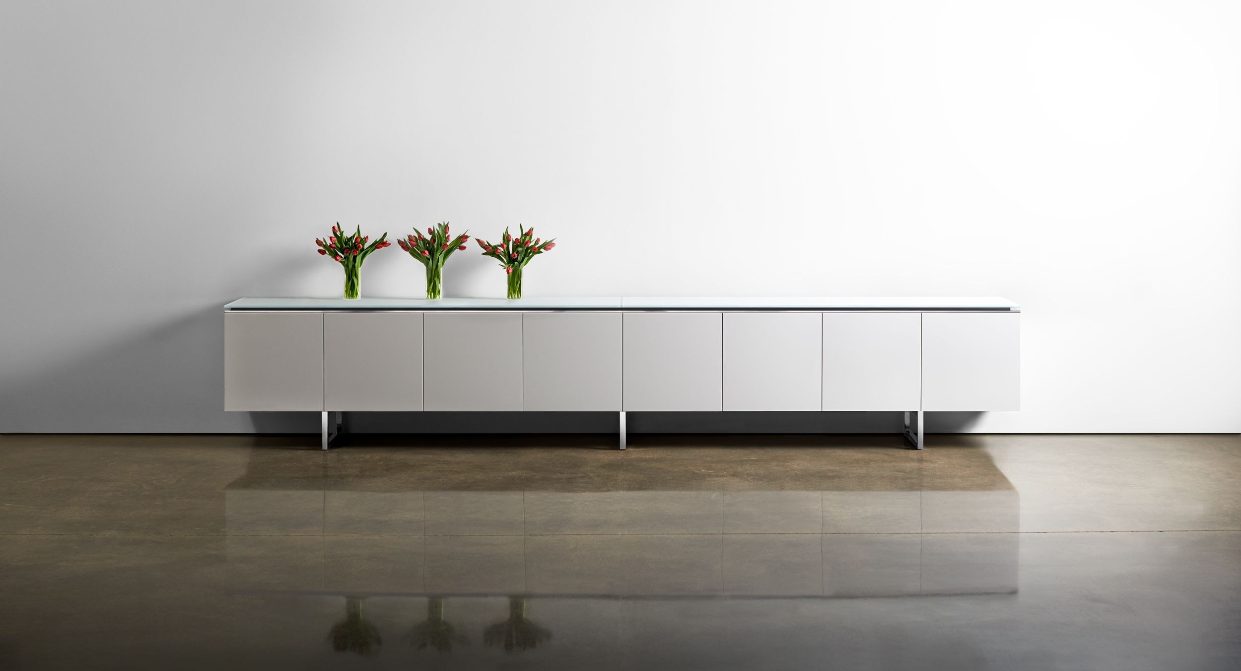 Mesa's Signature Credenza is the perfect storage solution for any meeting space.