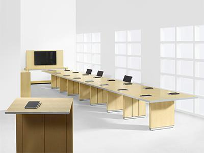 Mesa HALCON Furniture - White marble conference table