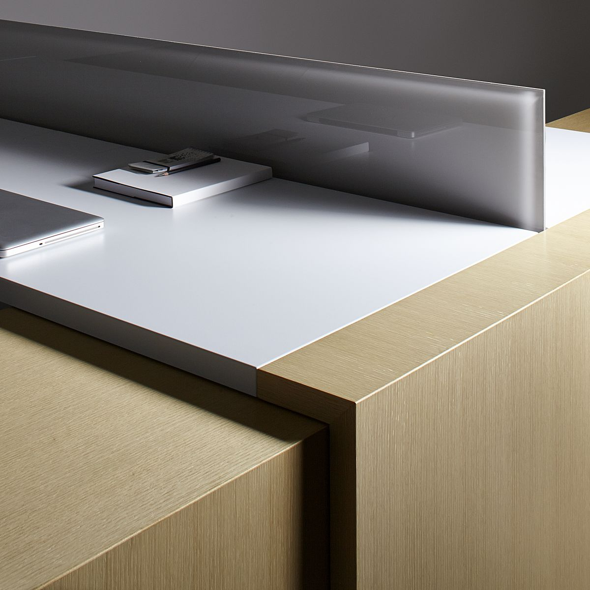 Seamless mitered joinery and perfectly balanced veneers highlight our craft and our quality.