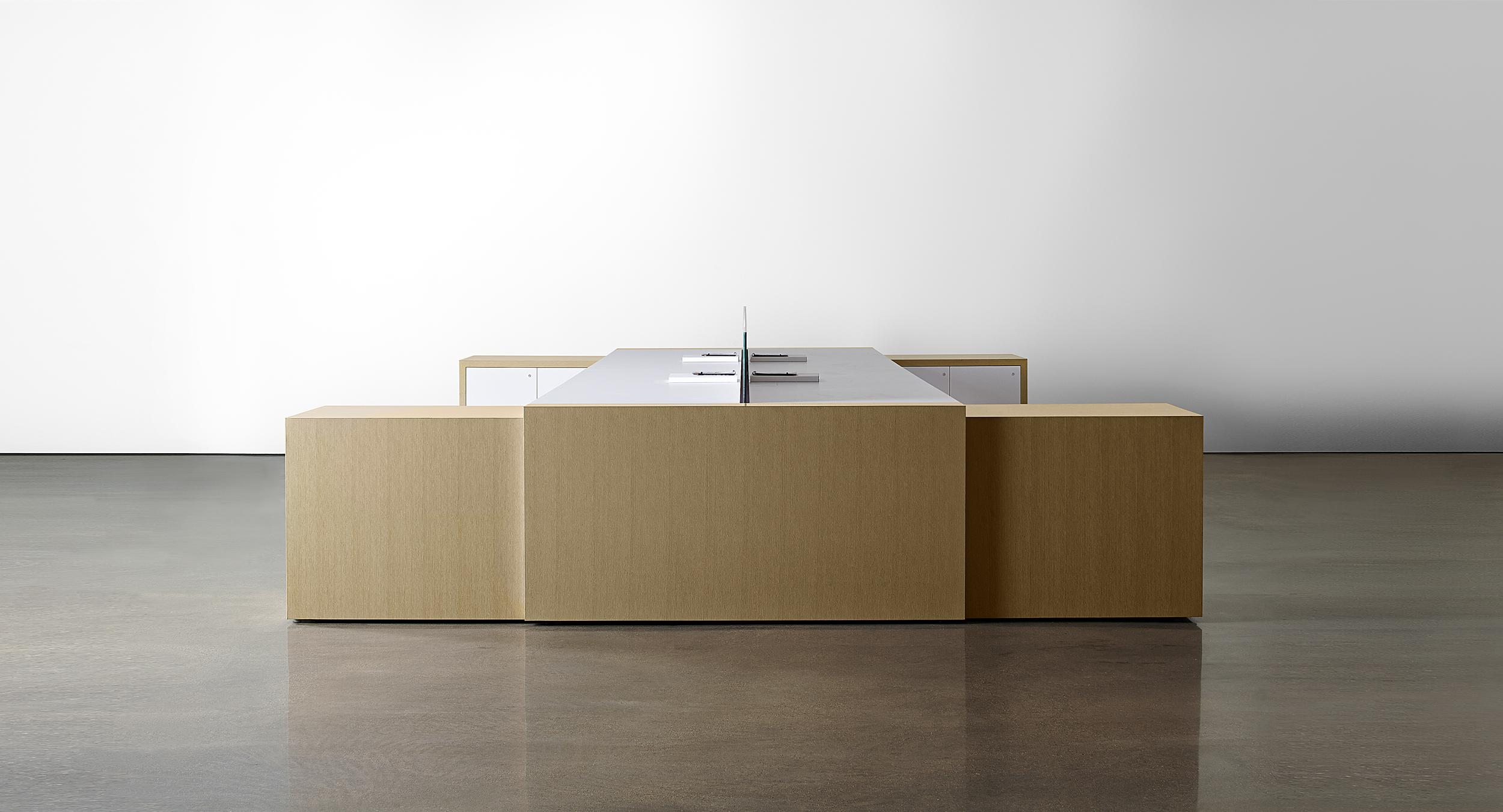Perfectly mitered casework and joinery create pure modern forms.