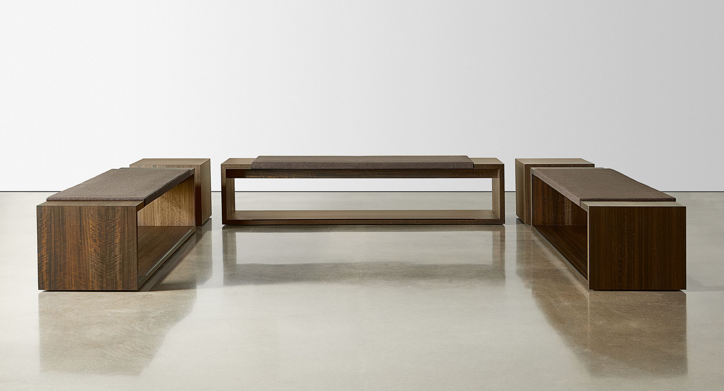 OXER incorporates minimalist lines into a bench seating design that speaks to simplicity and modernism.
