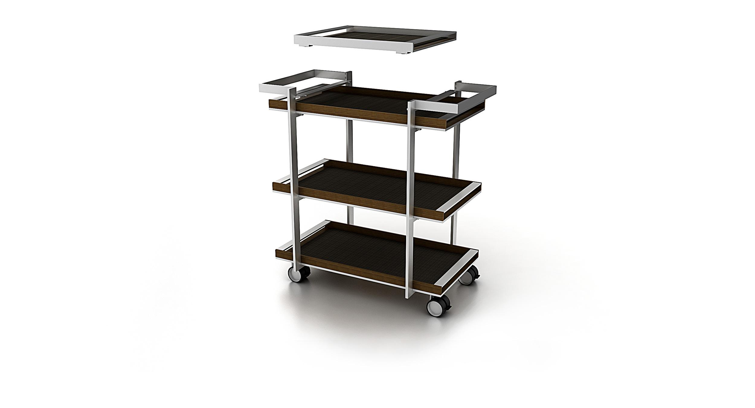 Porter offers a distinctive removable tray to serve fine design and function in equal measure.