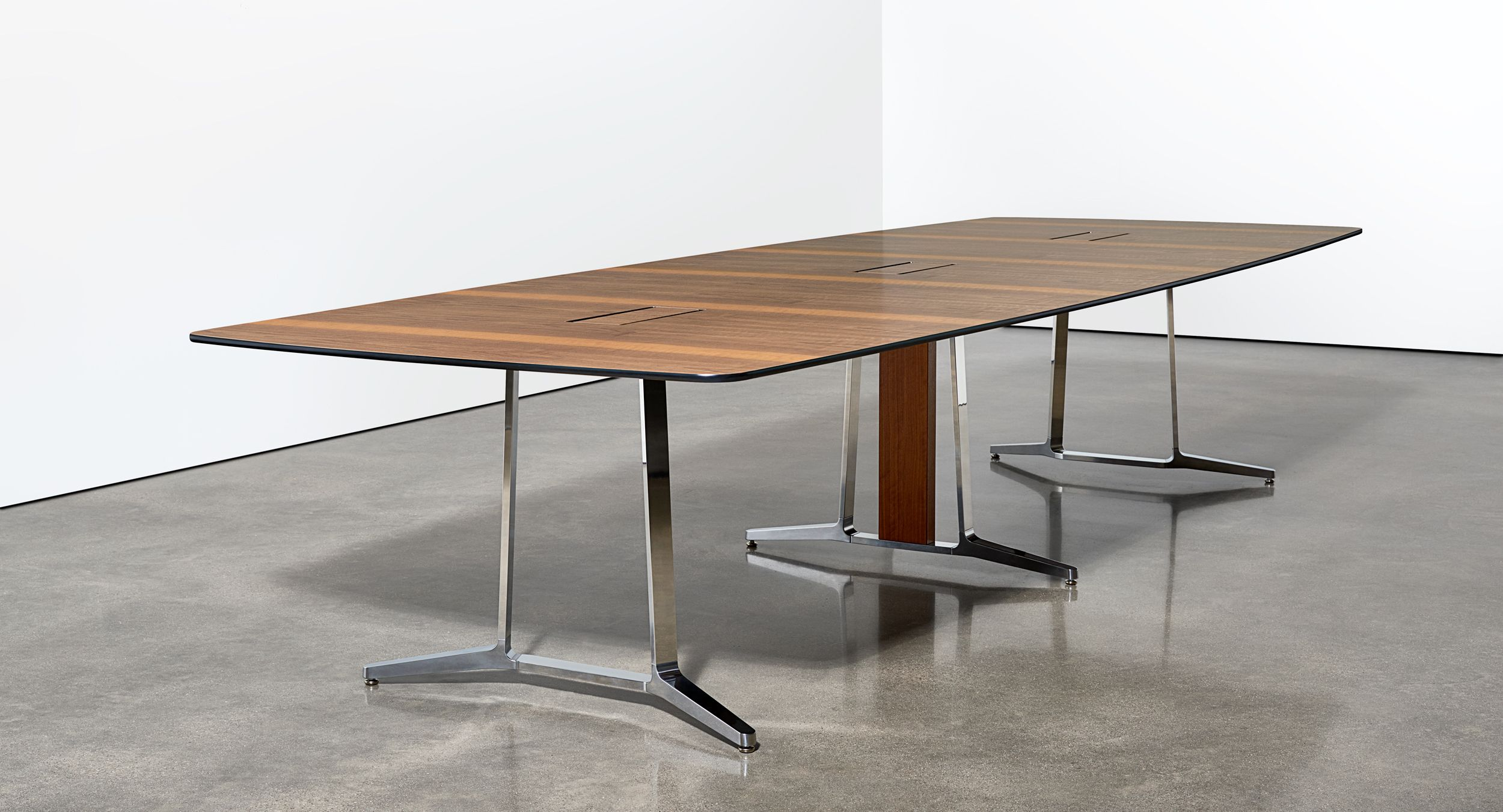 Skill conference tables are offered in a full range of sizes and finishes.