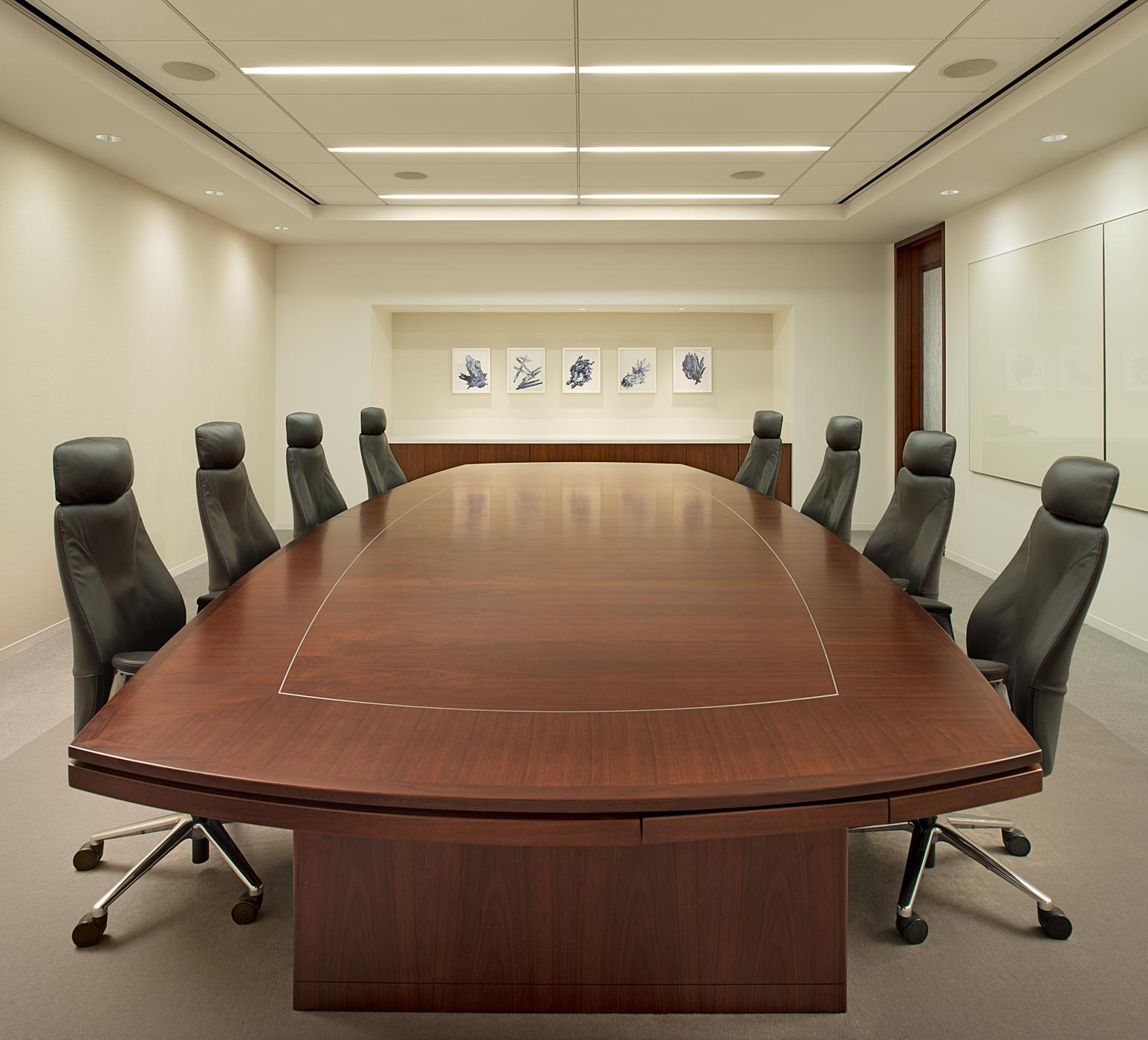 Energy Corporation Houston HALCON Furniture - Curved conference table