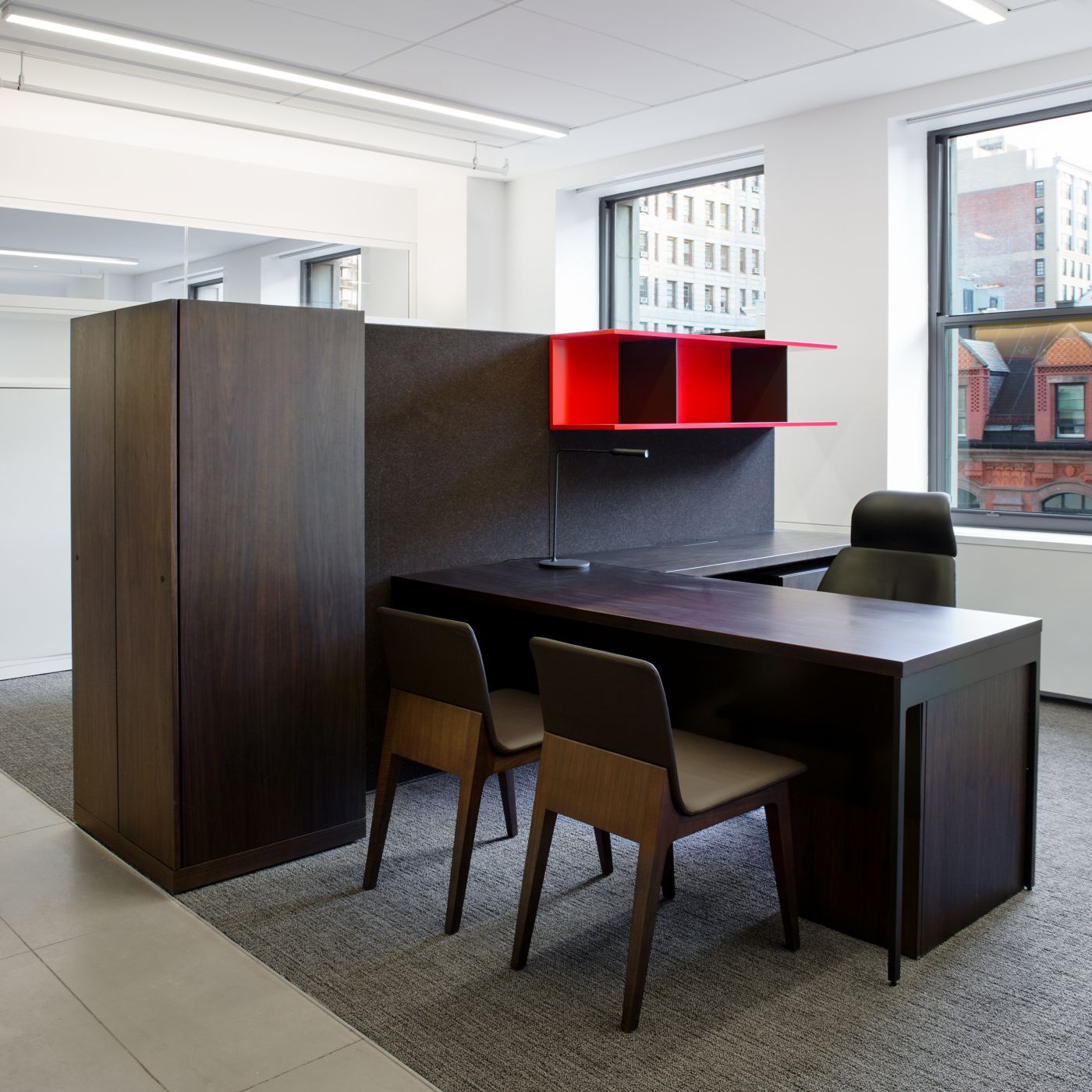 IMG utilizes private office layouts in an open office environment.