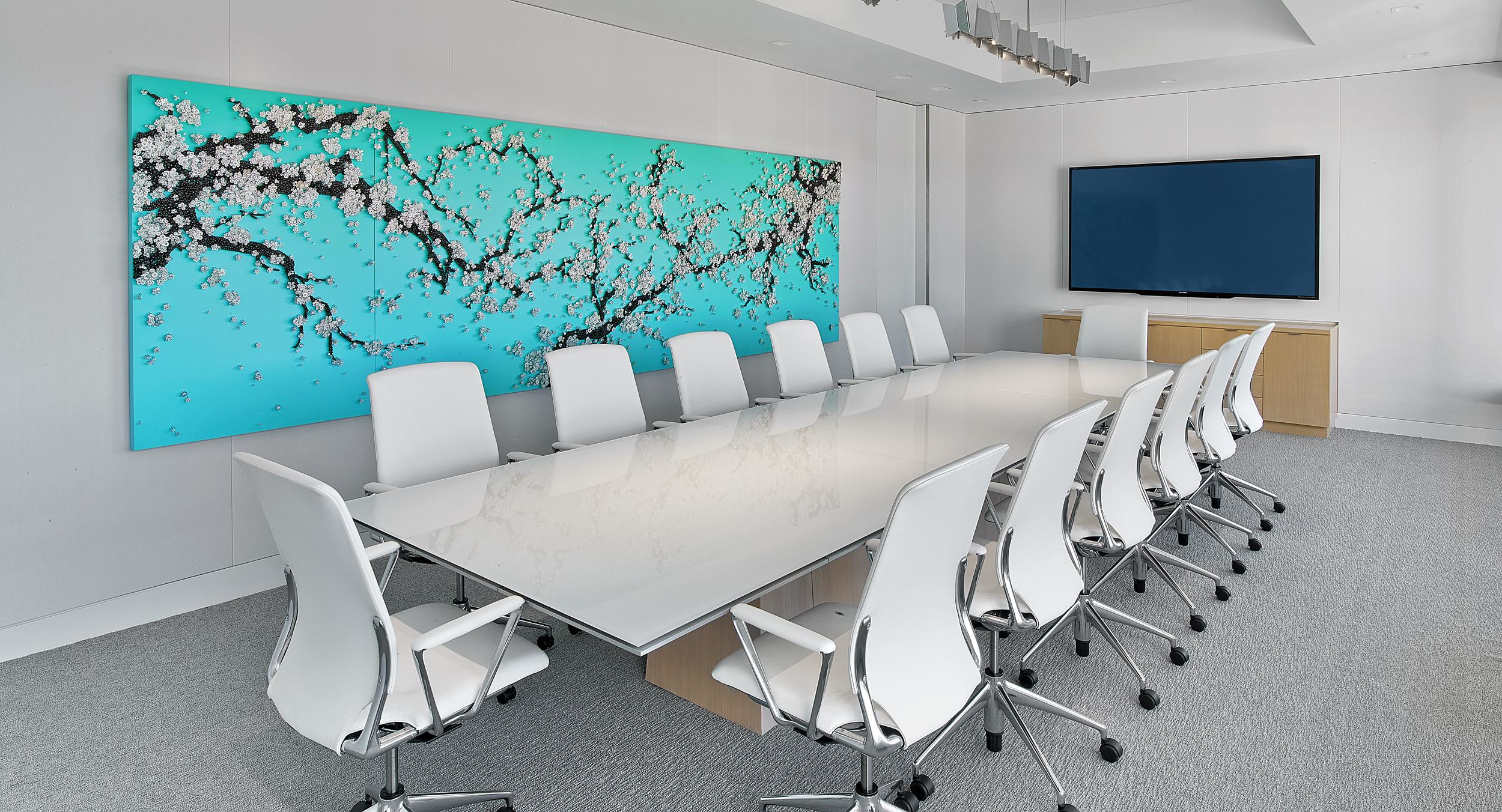 A sixteen-foot MESA table resides in the organization's main conference room.