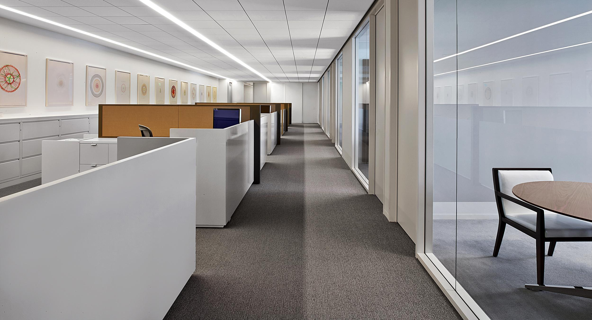 White Chemcolor surround panels convey clean, modern lines.