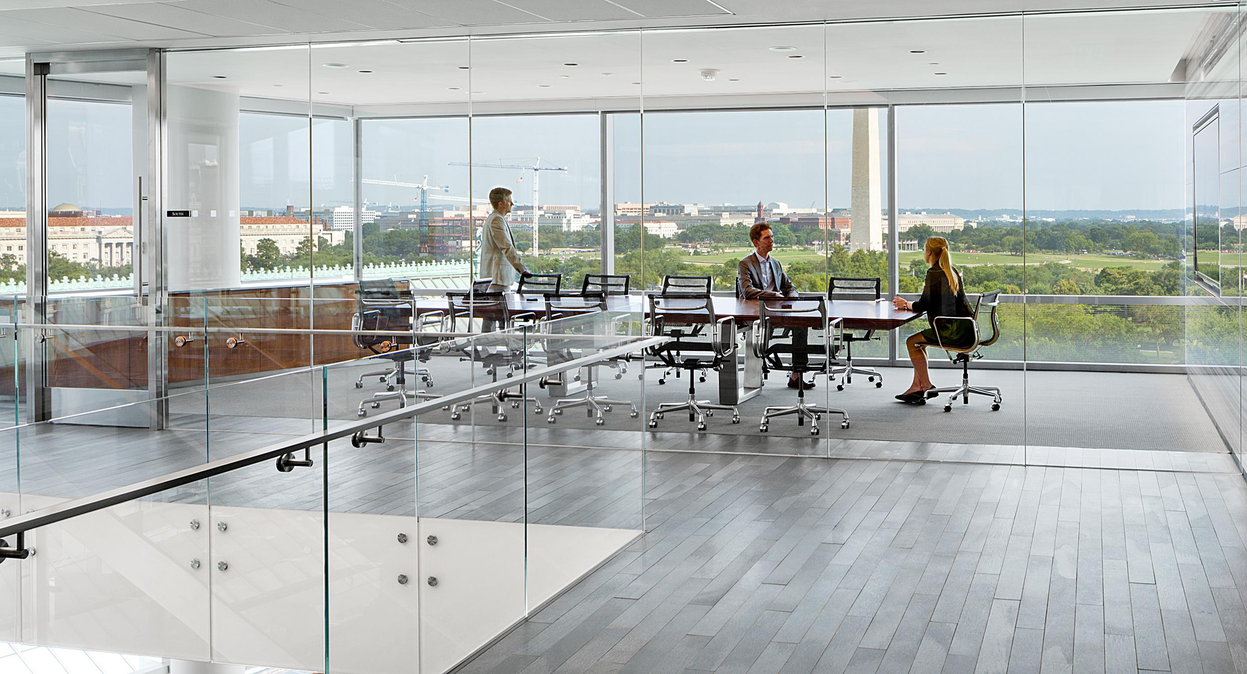 Open space showcases spectacular views and MESA conferencing.