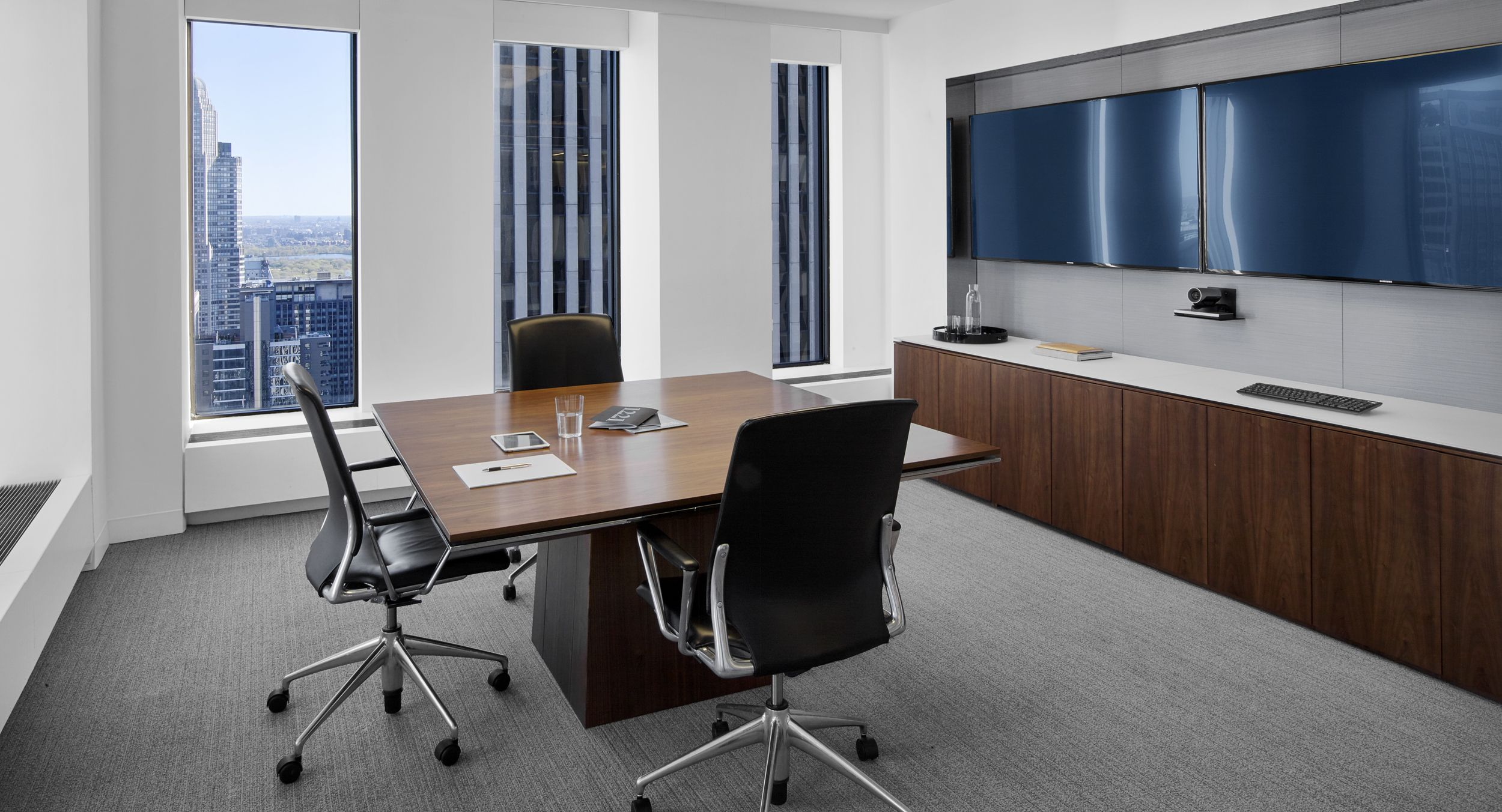 Precisely-tailored MESA tables and storage credenzas meet the exacting needs of each meeting space.