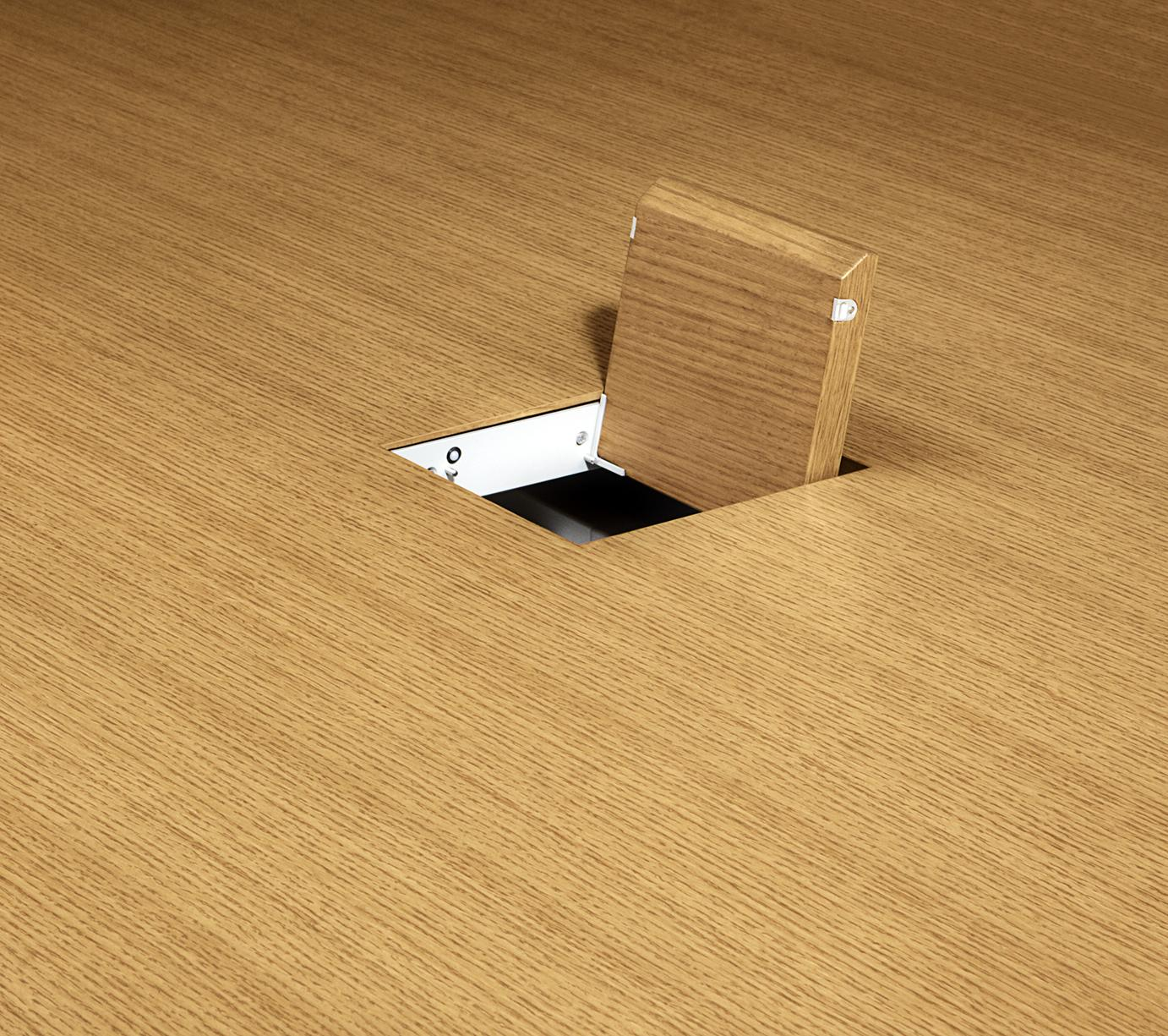 Access power in data effortlessly with one or two 6-inch power grommets per table.